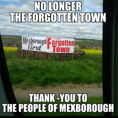 A Big Thank You To The People Of Mexborough
