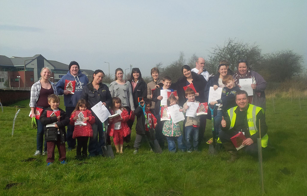Community Tree Planting and Litter-Picking on Manvers Park off Wath Road