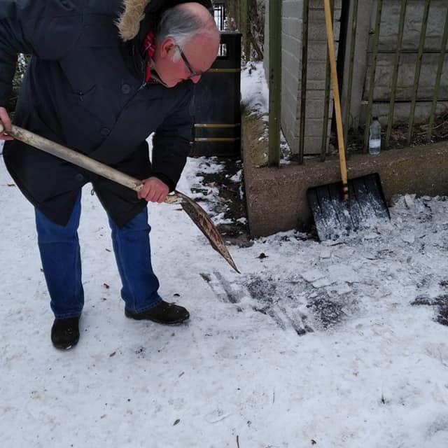 Clearing Snow after the visit of The Beast From The East